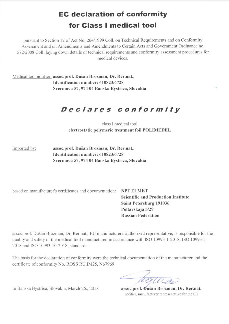 Polimedel Certifikat 1