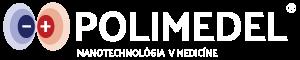 Polimedel logo - biele